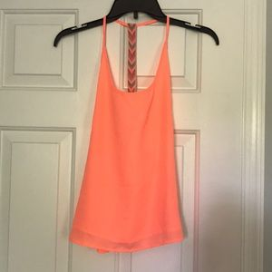 Adorable Tobi Open Back Tank! Neon orange!